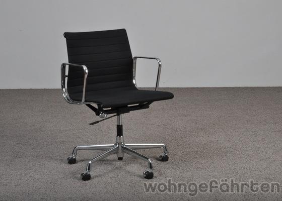 vitra charles eames aluminium chair ea 117 hopsak noir. Black Bedroom Furniture Sets. Home Design Ideas
